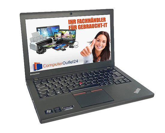 Bild 1 - Lenovo Thinkpad X250, Core i5 5300U 2,3GHz, 8GB RAM, 240GB SSD