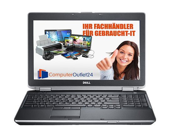 Bild 1 - Dell Latitude E6530, Core i5 3320M 2,6GHz, 8GB RAM, 128GB SSD, DVD-RW
