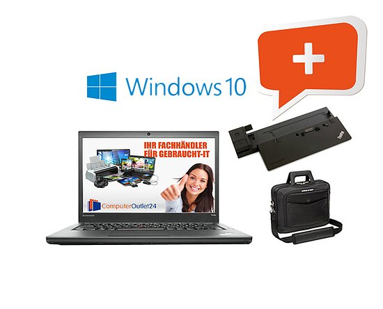 Bild 1 - AKTIONS-BUNDLE: Fujitsu Lifebook E744 + Docking-Station + Notebooktasche + Windows 10
