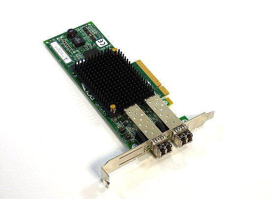 Bild 1 - DELL LPE12002 8GB FC Host Bus Adapter incl. 2x Gbic (Full Profile) 0C856M
