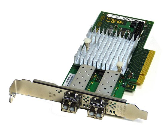 Bild 1 - Fujitsu 2Port 10Gb Ethernet Controller PCI-E D2755-A11 incl. 2x Gbic (Full Profile)