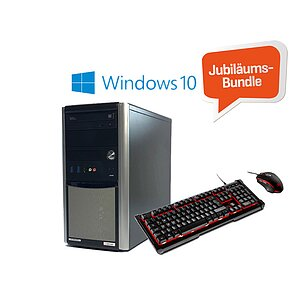 AKTIONS-BUNDLE: Gaming-PC + Gaming-Tastaturset + Windows 10