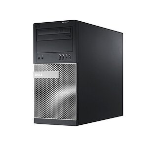 Dell Optiplex 7010 MT, Core i3 3240 3,4GHz, 8GB RAM, 320GB HDD, DVD-RW, Radeon HD 7470