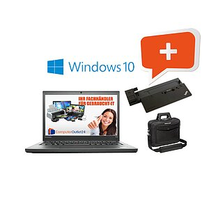 AKTIONS-BUNDLE: Fujitsu Lifebook E744 + Docking-Station + Notebooktasche + Windows 10