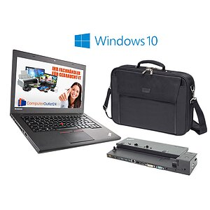 AKTIONS-BUNDLE: Lenovo ThinkPad T450 + Docking-Station Type 40A1 + Notebooktasche + Windows 10
