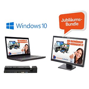 AKTIONS-BUNDLE - Für Büro & unterwegs! Lenovo Thinkpad T440s Touch + Docking Type 40A1 + Lenovo 55,9 cm (22