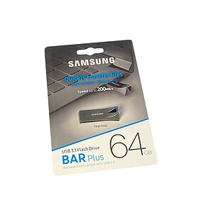 Samsung 64GB USB 3.1 Stick BAR Plus Titan Gray