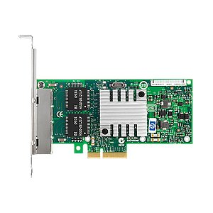 HP NC365T QuadPort Gigabit Server Adapter PCI-E SP: 593743-001, P/N: 593720-001 (Full Profile)
